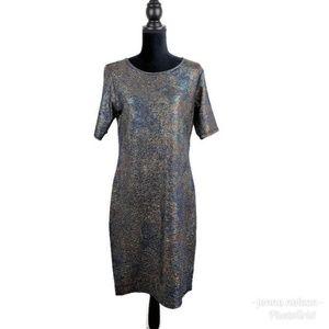 LuLaRoe Julia Elegant XL Mermaid Rainbow Dress
